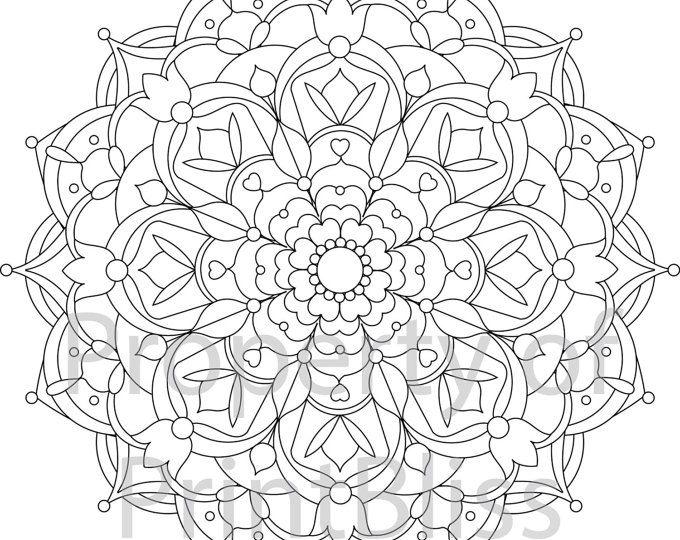 Flower Mandala Printable Coloring Page MandalaA FlowerMandala PrintablePrintable PagesMandala ColoringFile FormatColoring BooksFilingPdf