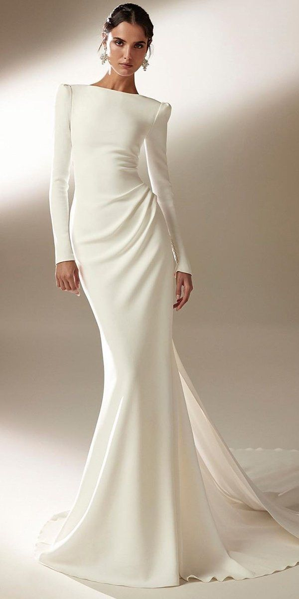 30 Cute Modest Wedding Dresses To Inspire | Wedding Forward 5