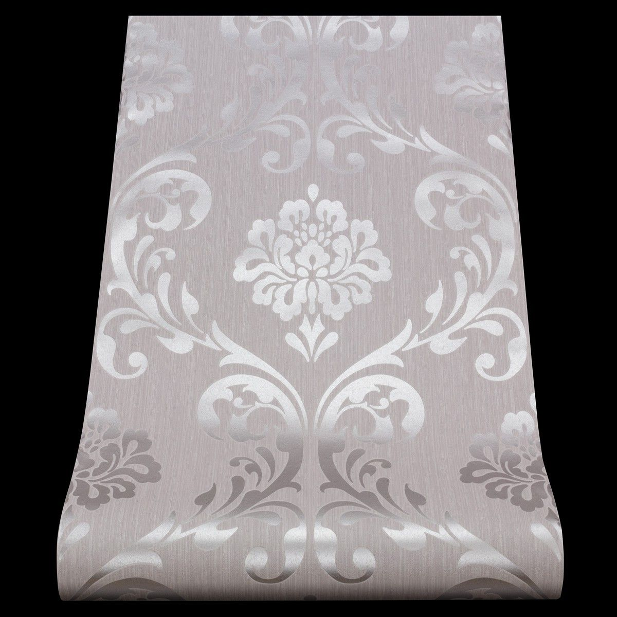 Schon Glitzer Tapeten Silber Wall Wallpaper Damask Wallpaper Decor