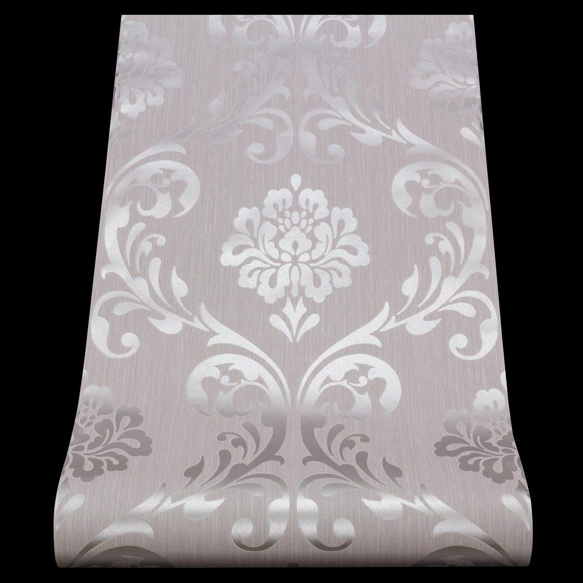 13110-50) 1 rolle vlies tapete 'ornament' barock design grau si, Schlafzimmer entwurf