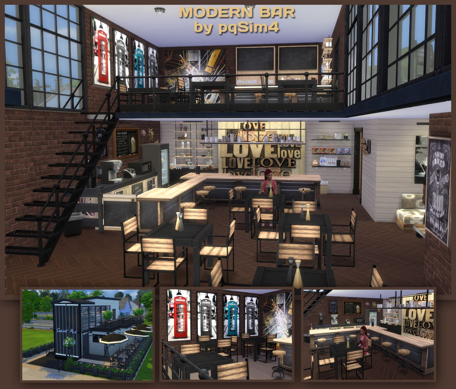 sims 4 modern bar sims 4 lots pinterest sims and sims cc