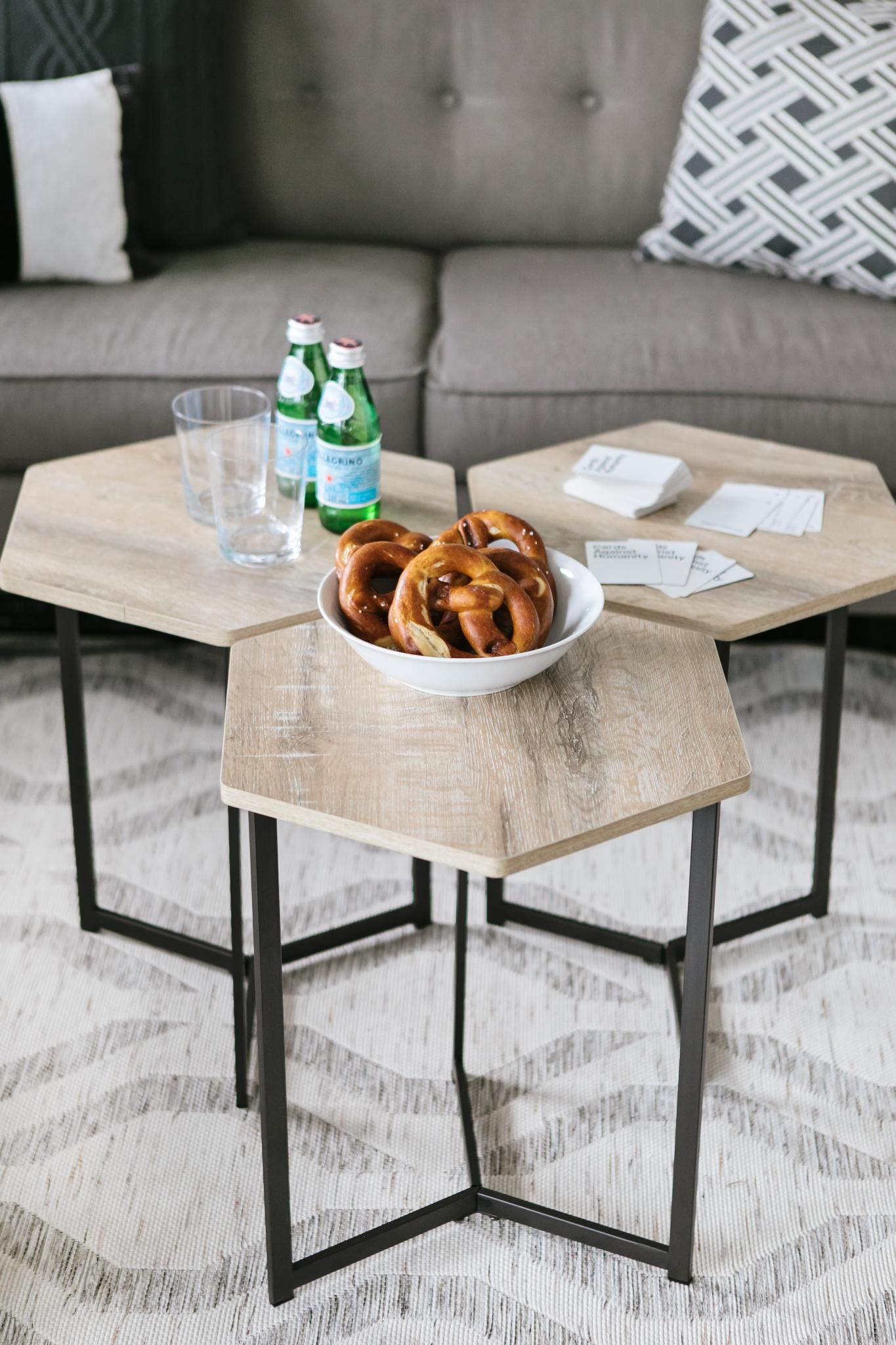 Sofa Legs Canadian Tire The Canvas Hexagon Side Tables Can Be Used On Their Own Or Put