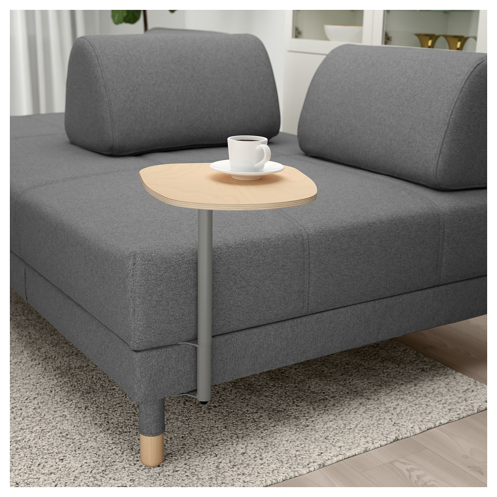 IKEA   FLOTTEBO Sleeper Sofa With Side Table Lysed Dark Gray