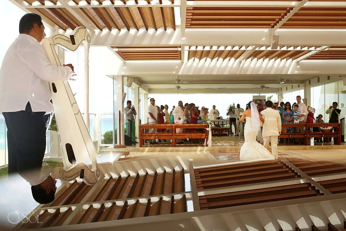 Cancun Wedding At Gran Caribe Real Our Lady Of Guadalupe Chapel Is A