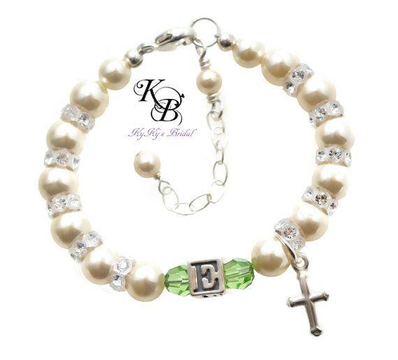 Girls Boys First Holy Communion Christening Personalised Engraved Charm Bracelet
