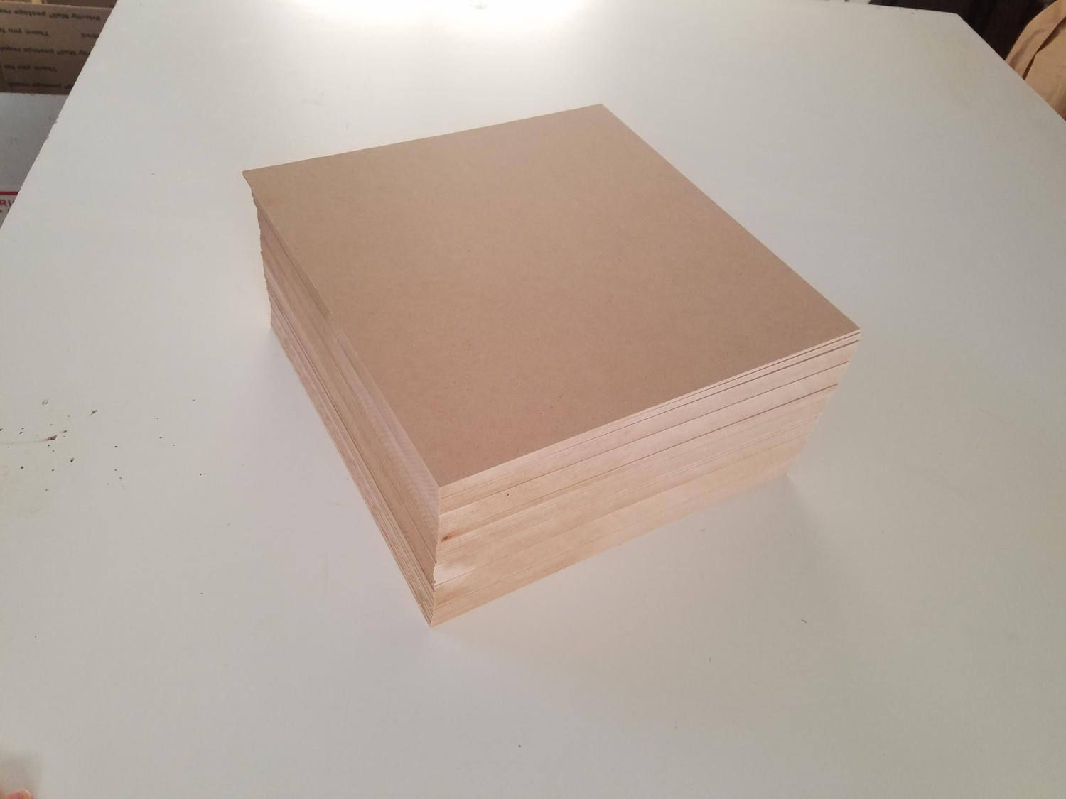 1 4 mdf 12x12 24 sheets medium density fiberboard for Thin wood sheets for crafts
