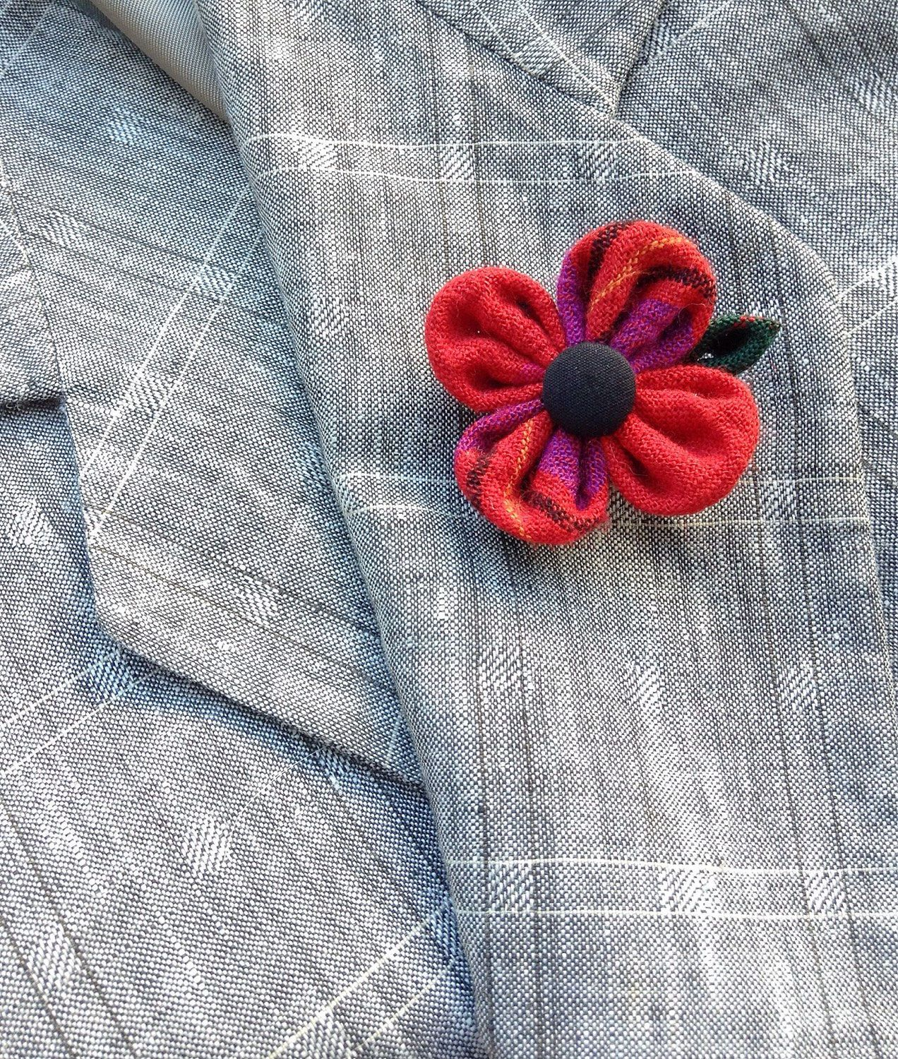 Custom Lapel Pins Mens Lapel Pin Flower Lapel Pin Red Poppy Lapel