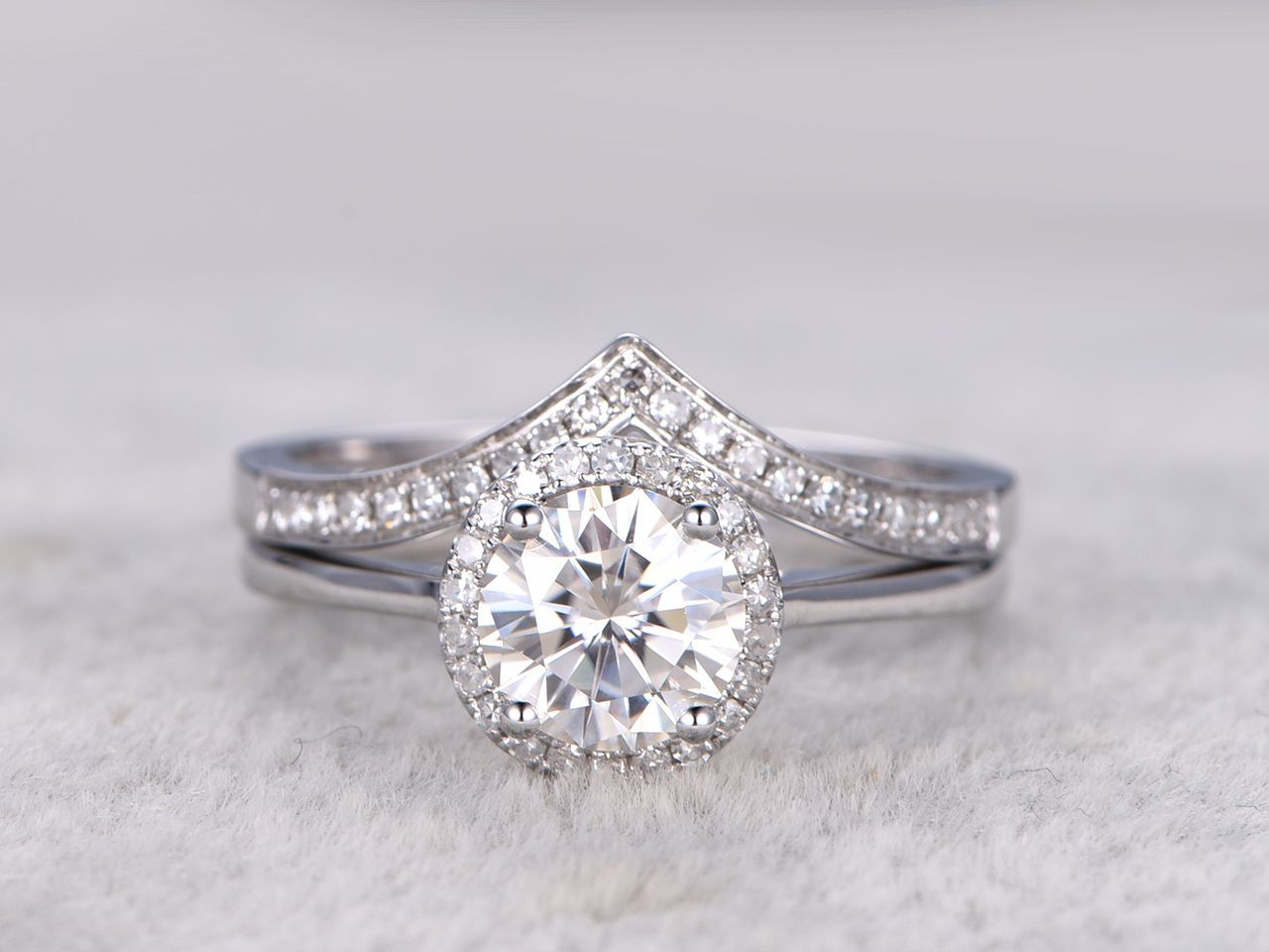 wedding item lab ring real eternity in bands rings band moissanite transgems gold grown jewelry diamond engagement from