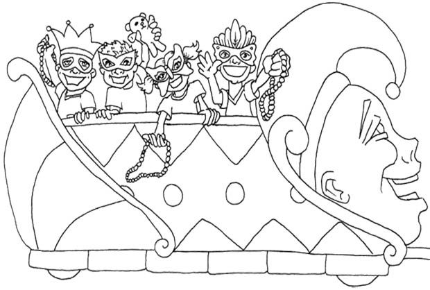 Mardi Gras Jester Coloring Pages Design