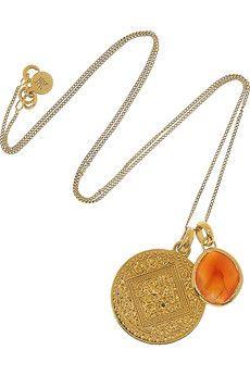 Monica Vinader Mini Marie 18-karat gold-vermeil necklace