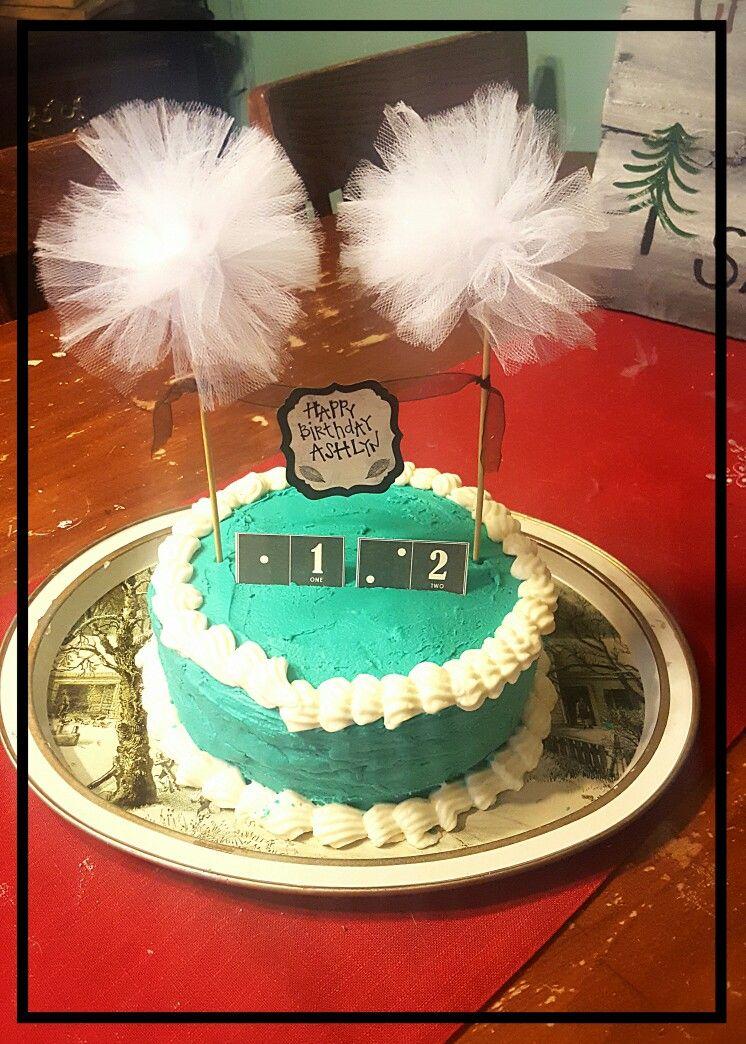 Easy Tween Girl Birthday Cake Turquoise And Cream The Birthday