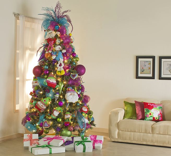 Pin de natalie en lovely christmas trees pinterest - Decoracion de arboles navidenos para ninos ...