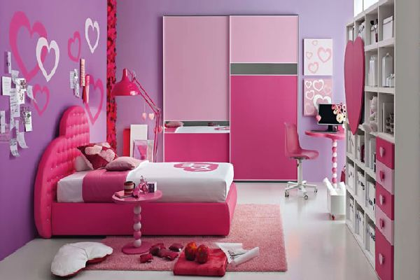 Modern Stylish Children S Bedroom Furniture In Hot Pink Shades