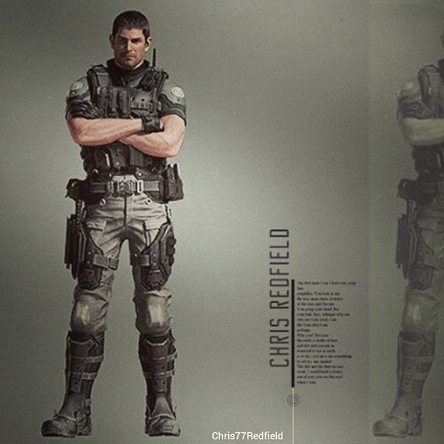 Chris Redfield Vendetta Official Artwork By Efrajoey1 Soldaty