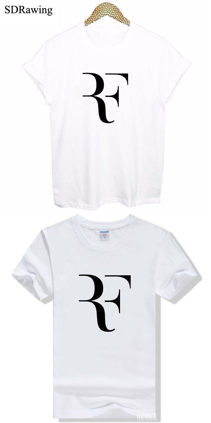 a8389b32ad85 Free Shipping Roger Federer T Shirt RF Tshirt Roger Federer RF T-shirt RF T