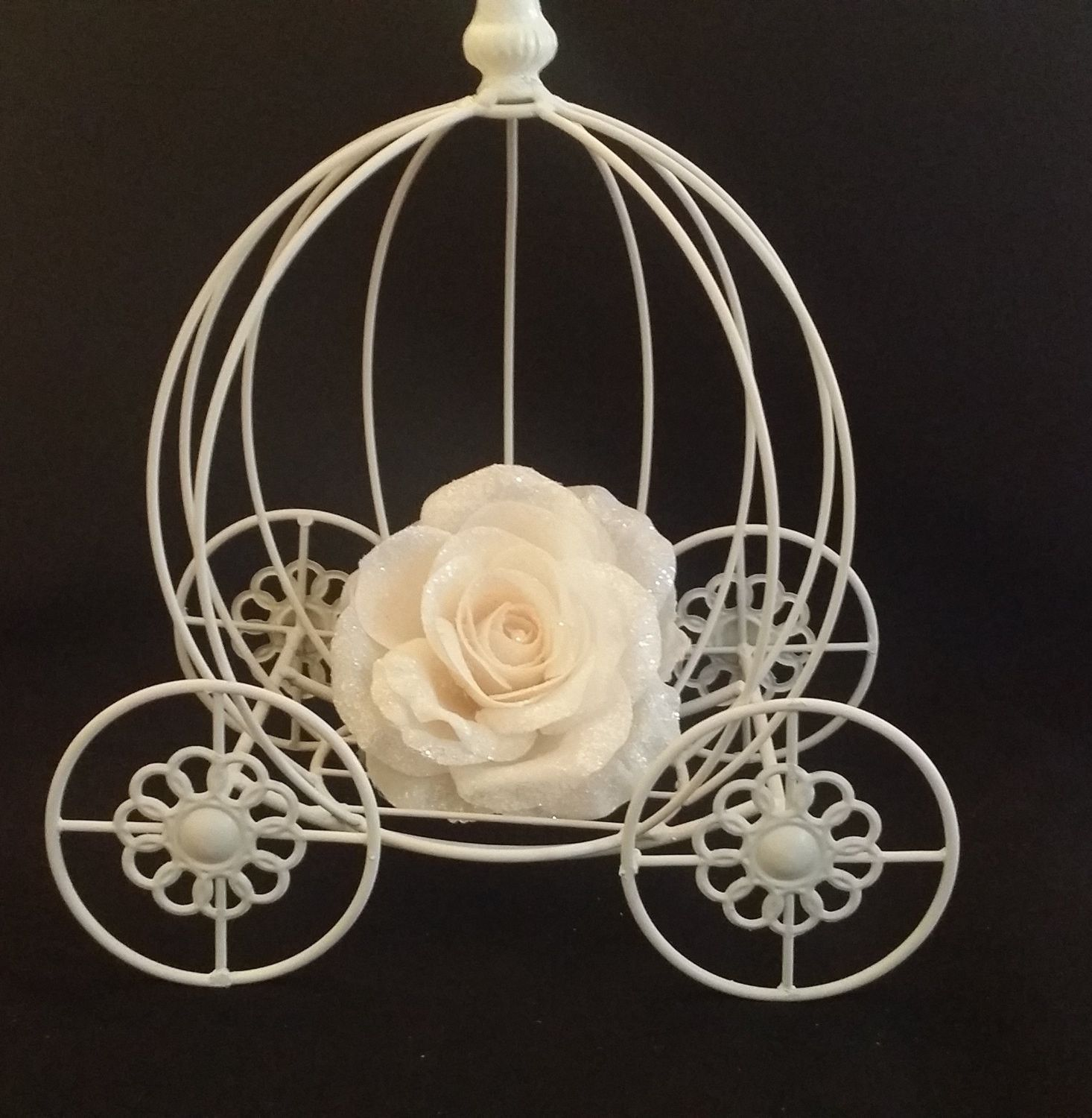 Princess Carriage Centerpieces White Princess Carriage Party Table