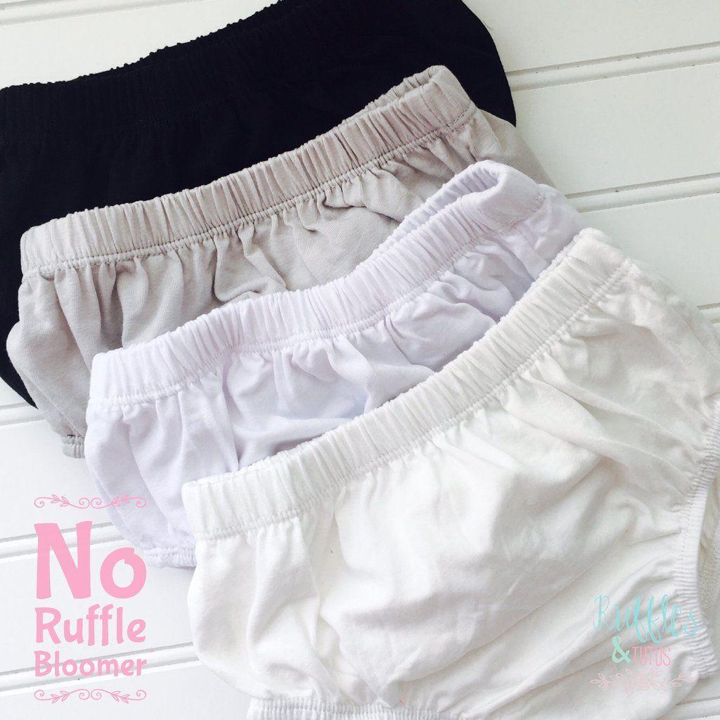 Kayla Soft Cotton Classic No Ruffle Bloomer  - Ivory, White, Gray or Black