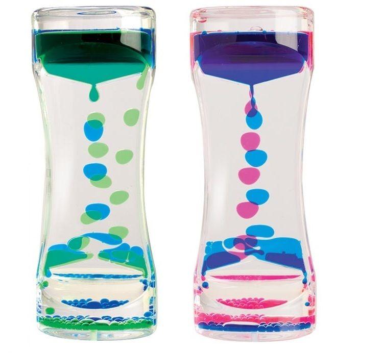 Liquid timer visual timers to help calm focus sensory