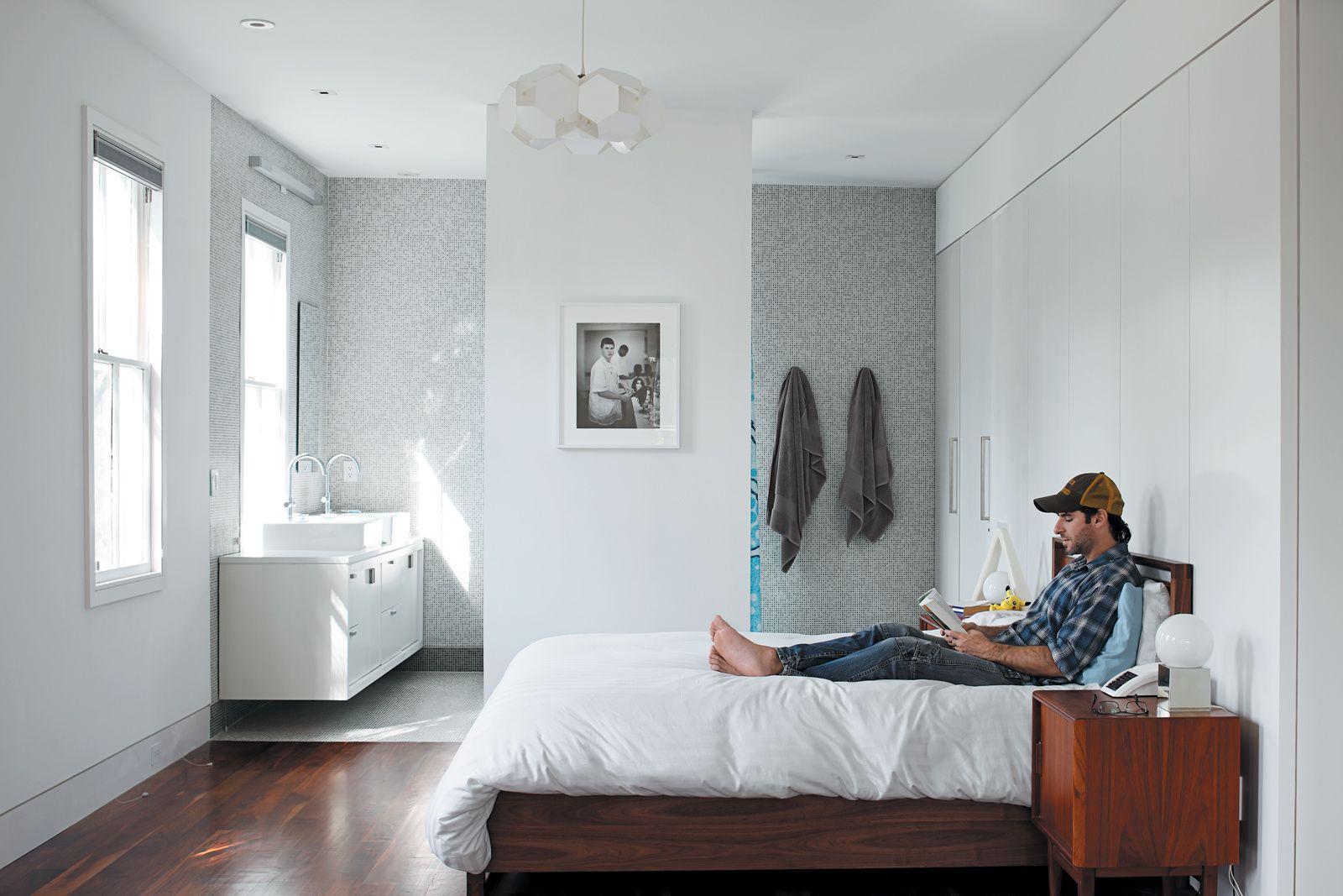 Clever Open Plan En Suite Idea Small Master Bedroom Bedroom