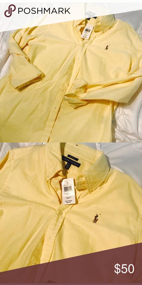 Ralph Lauren button down shirt Nwt.  ! Perfect wardrobe staple . Firm price Lauren Ralph Lauren Tops Button Down Shirts
