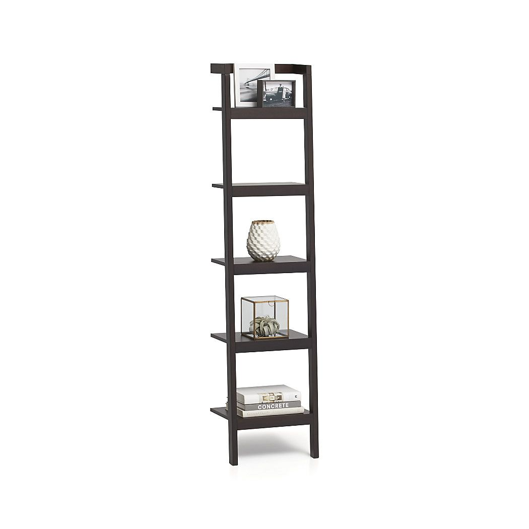 Shop sawyer mocha leaning 18 bookcase space saving clean looking sawyer