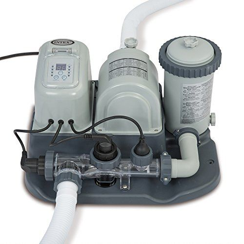 Intex 120v Krystal Clear Cartridge Filter Pump Saltwater System With E C O Electrocatalytic Oxidation For Above G In Ground Pools Pool Cleaning Intex Pool
