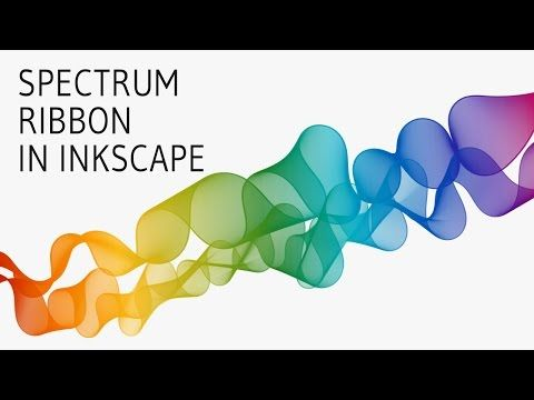 Spectrum Ribbon Tutorial In Inkscape Youtube Tutorial Blender Tutorial Graphic Design Services