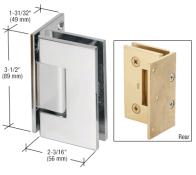 Gen044ch Crl Polished Chrome Geneva 044 Series Wall Mount Offset Back Plate Hinge Black Shower Doors Glass Door Hinges Glass Hinges
