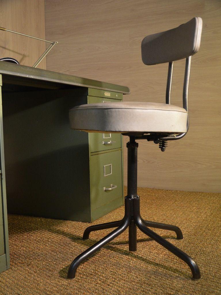 Chaise industrielle 1068, chaise indus, chaise métallique, chaise ...