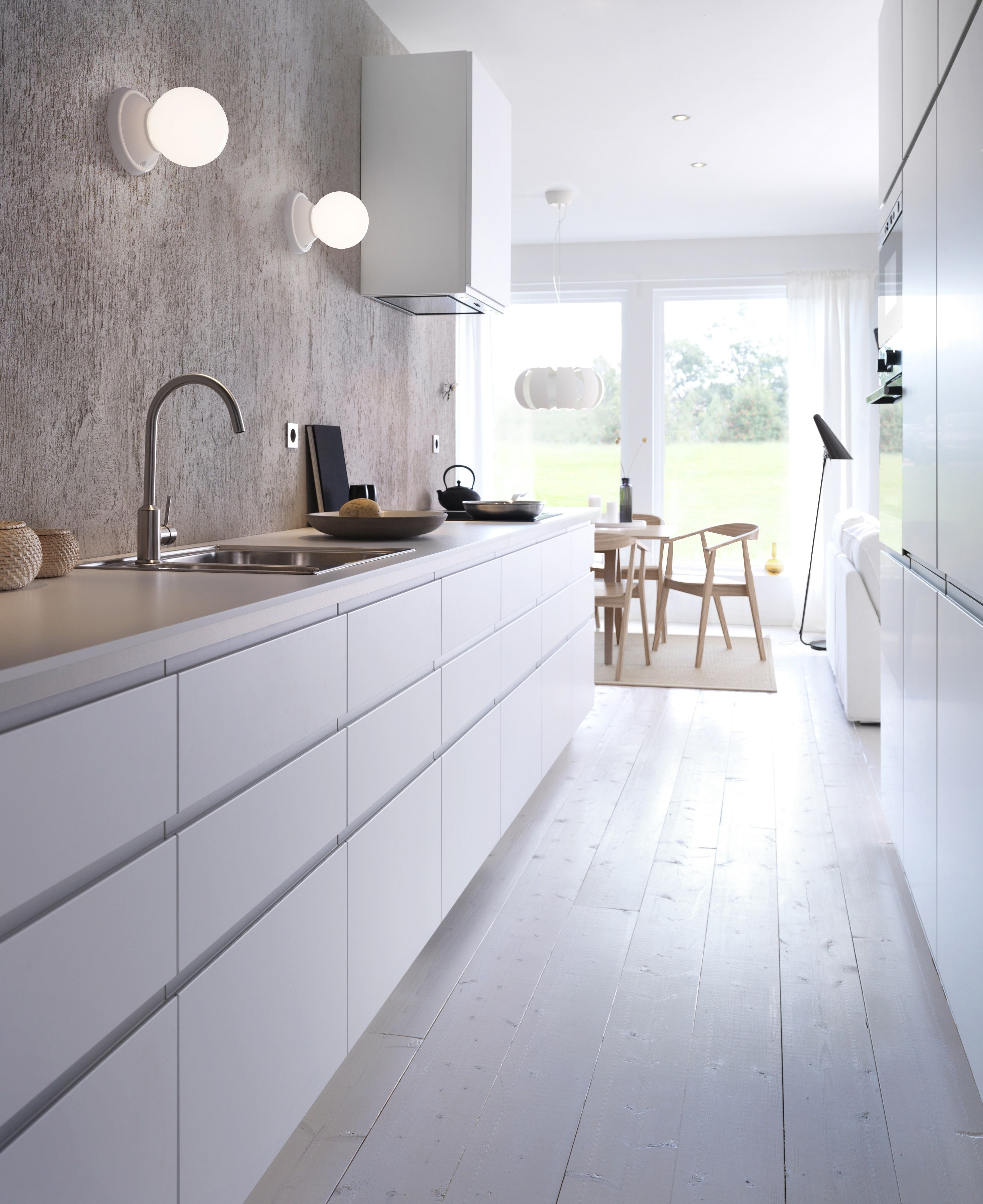 Kitchen, minimalist, white, no cabinets   Kitchens in 2018 ...