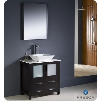 Fresca Torino 30 Inch Espresso Modern Bathroom Vanity With