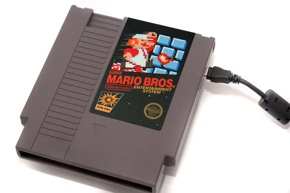 Blowing the dust out of the cartridge so the game would stop