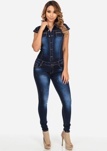 d4b607f34e1 New Women Blue Jeans Jumpsuit Ladies Club Night Wear Rompers Women  Sexyliilgal