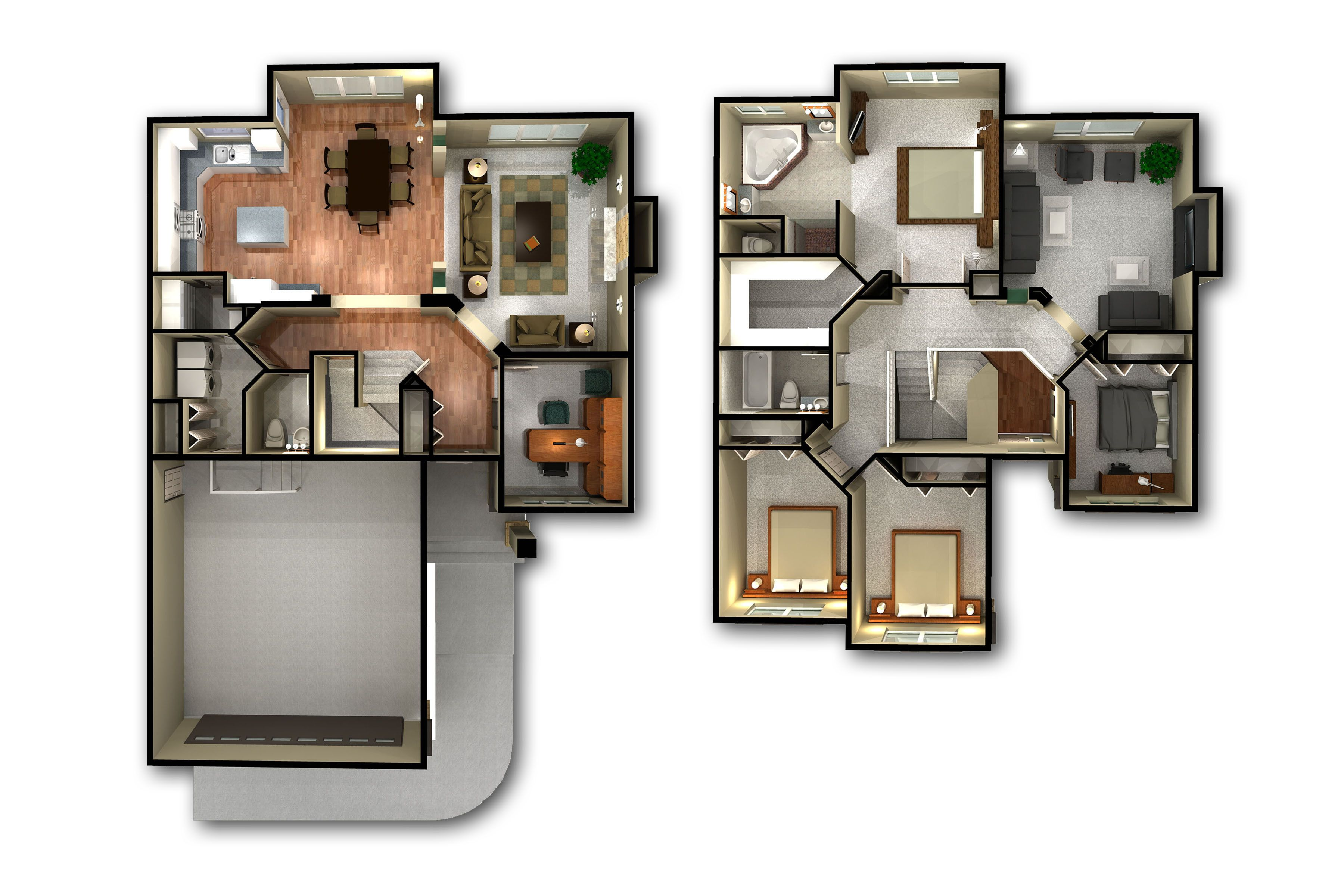 Incredible-3d-2-story-floor-plans-on-apartments-with-floor