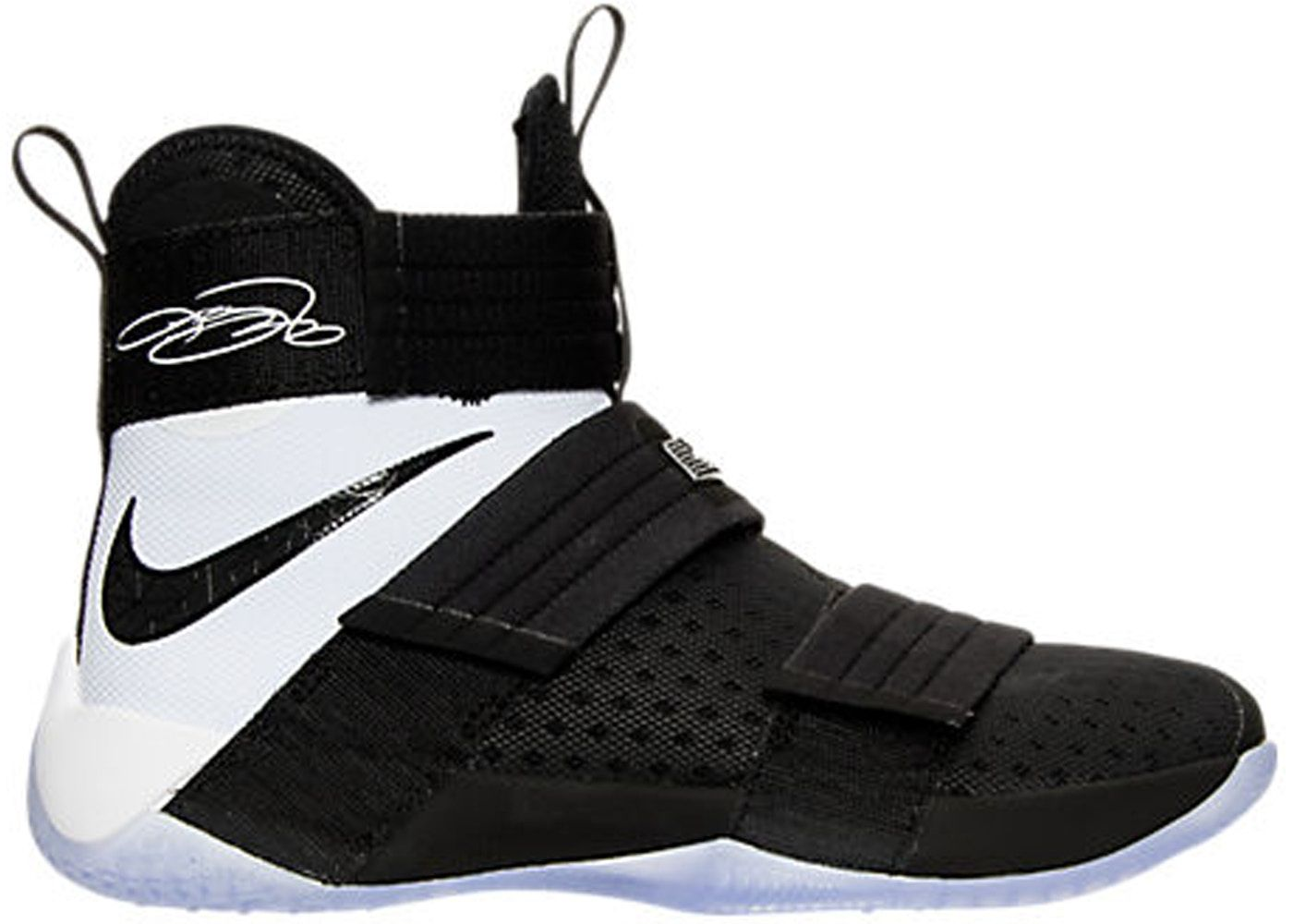 uk availability 3b758 8b208 LeBron Zoom Soldier 10 Black White