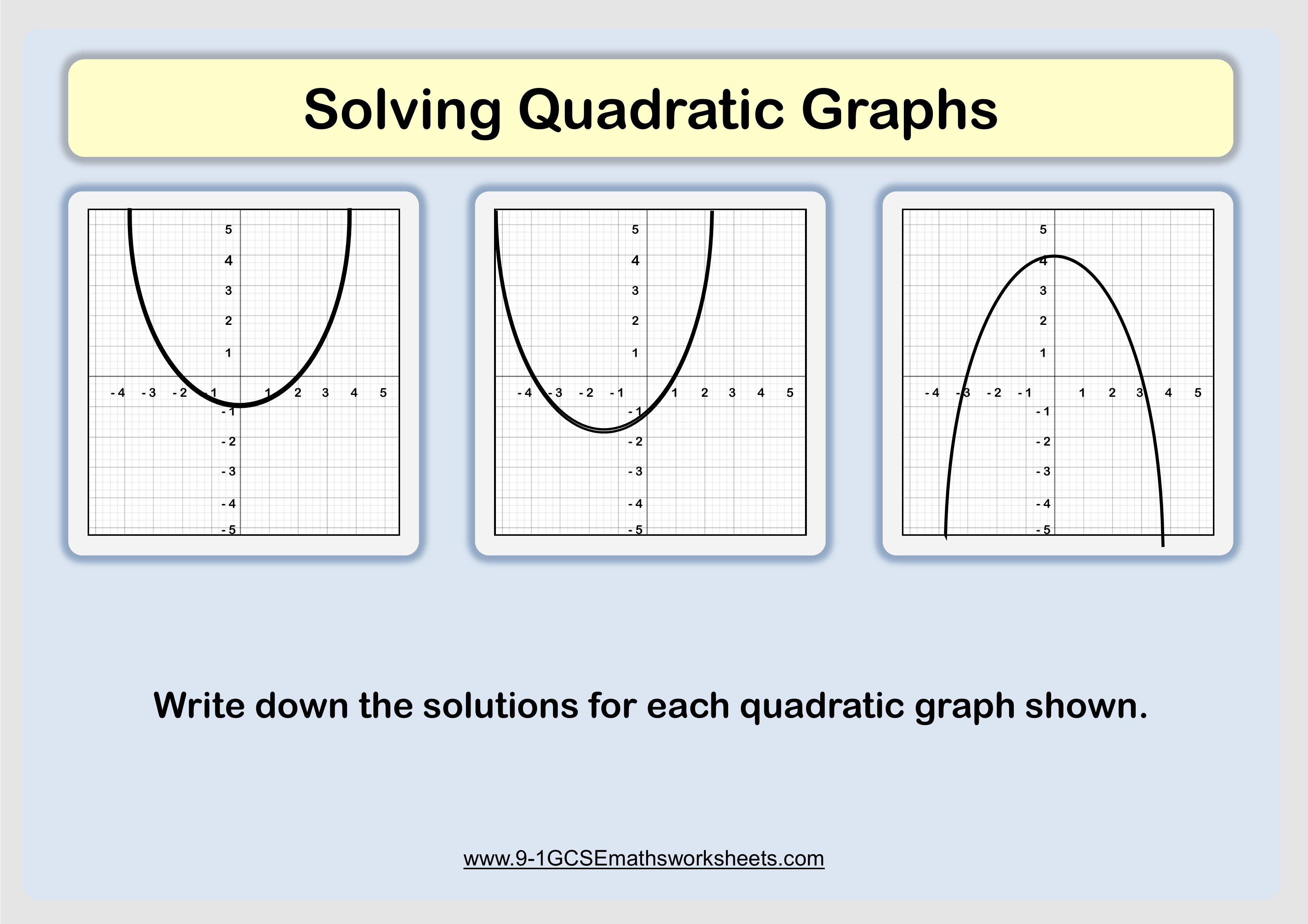 Solving Quadratic Graphs Example For Shading Regions Of