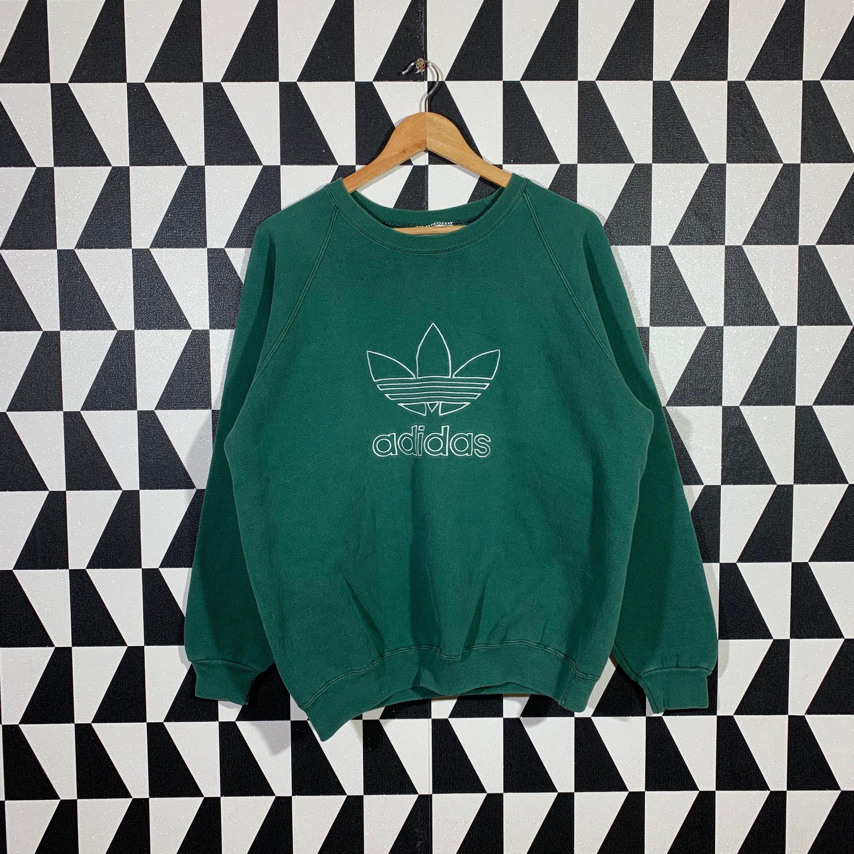 Vintage 90s Adidas Sweatshirt Jumper Adidas Crewneck Adidas Etsy Sweatshirts Adidas Sweatshirt Adidas Pullover [ 3000 x 3000 Pixel ]