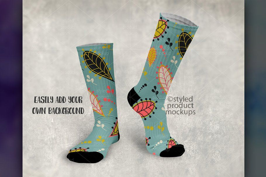Ad Sublimation Sock Mockup by StyledProductMockups on