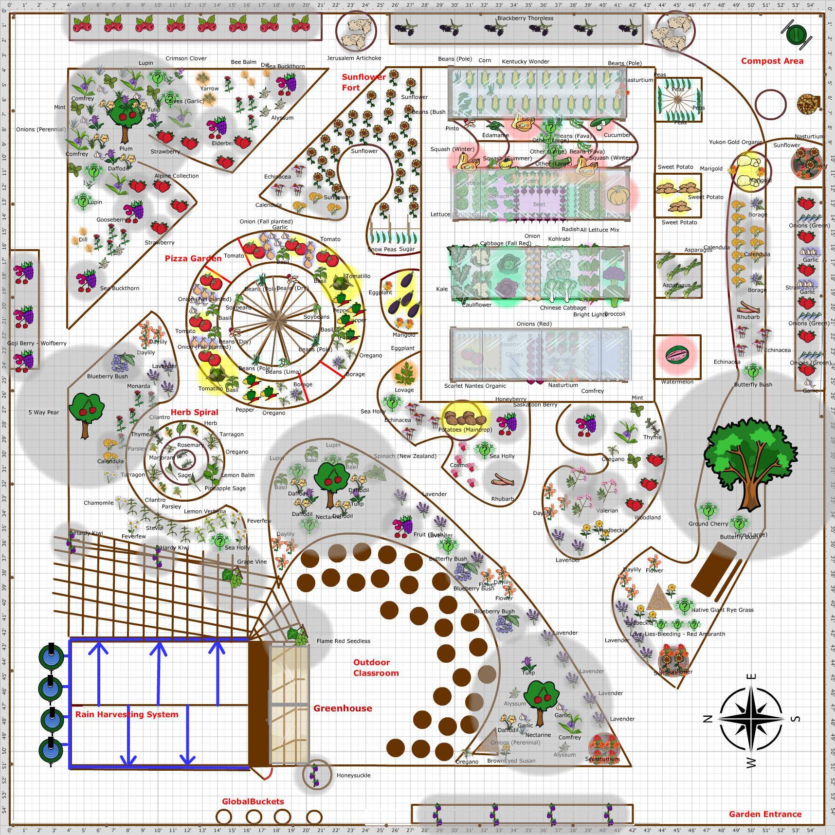 Garden Plan Jardin Enchante de Beairsto This is the design that