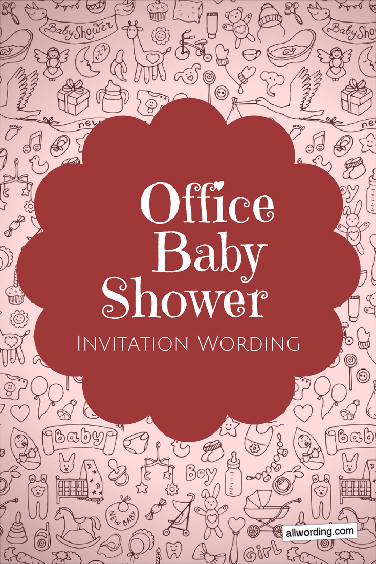 Office Baby Shower Invitation Wording
