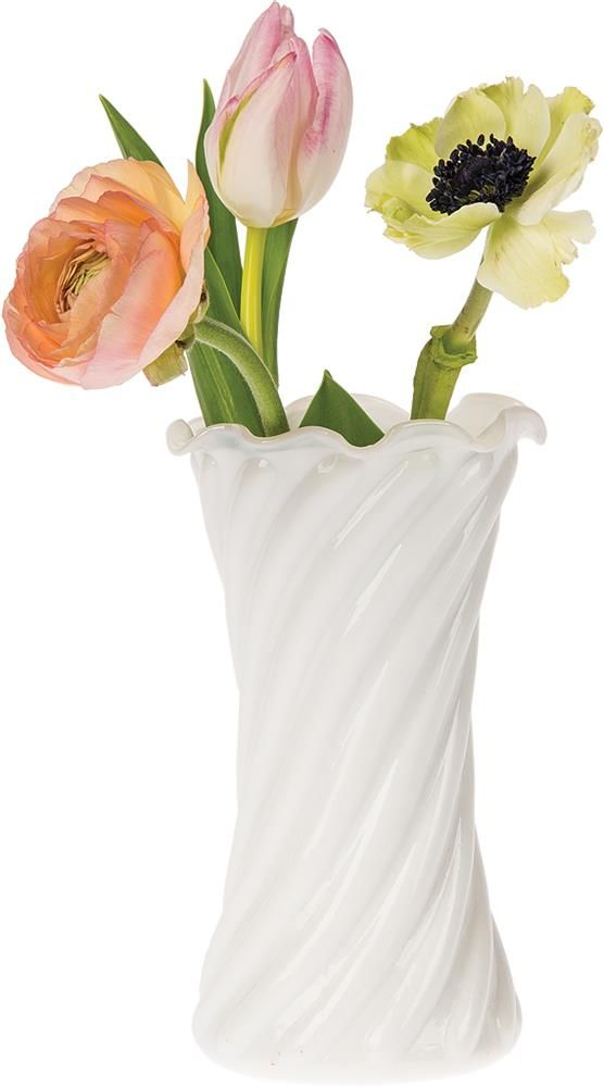 Milk Gl Vase (ruffled swirl design) - Wholesale & Bulk | Vases ... Milk Gl Vases Wholesale on