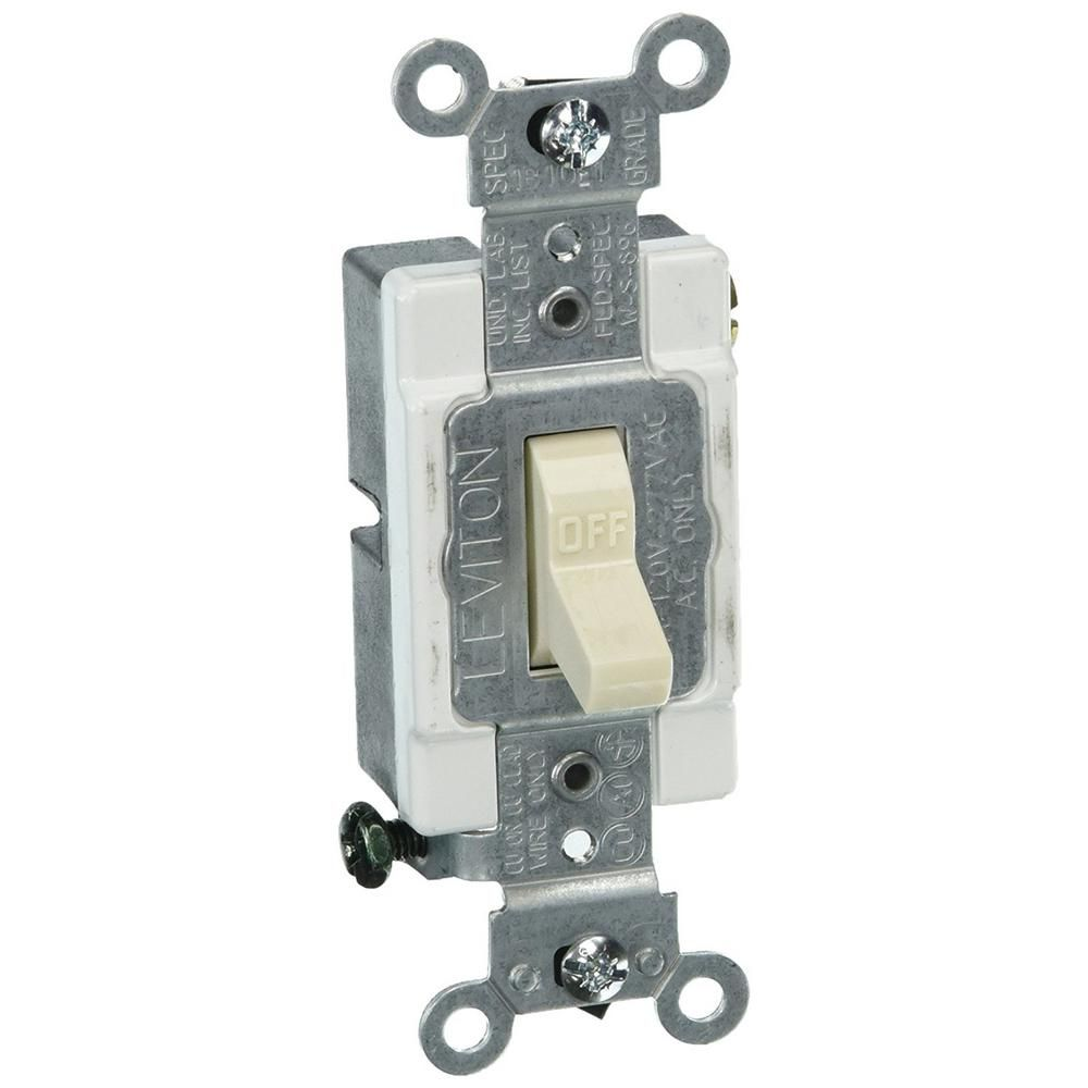 Pass Seymour 663g Pack Of 10 15 Amp Brown 3 Wa Commercial Single Pole Toggle Switch Leviton Grade Light Almond