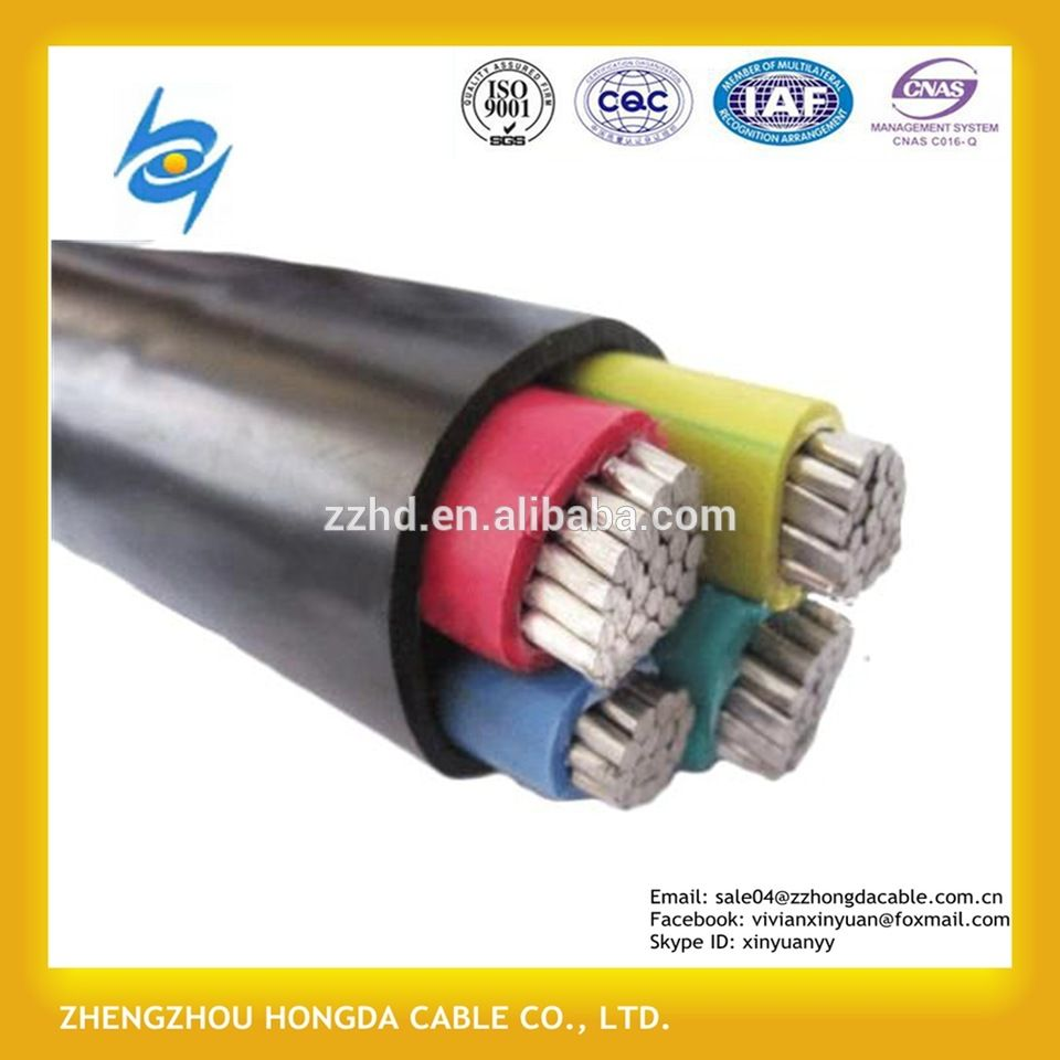 600 1000v Aluminum Conductor 3 Core Power Earth Cable 35mm2 Ground Cable Conductors Power Cable Power