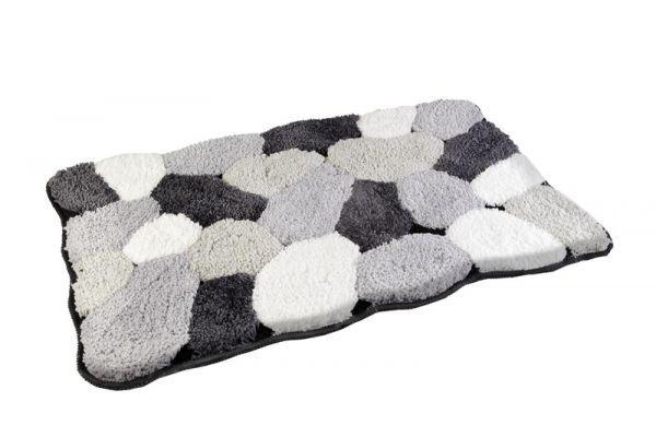 Badezimmerteppich Grau ~ Preiswerter grau weißer badvorleger badteppich aus microfaser x