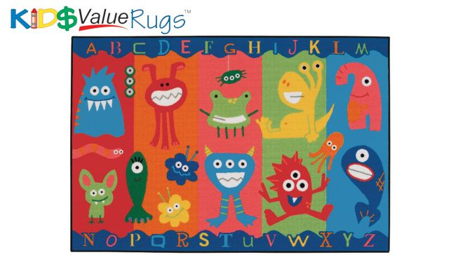 CK-36.03 Alphabet Monsters Value Rug 3' x 4'6""