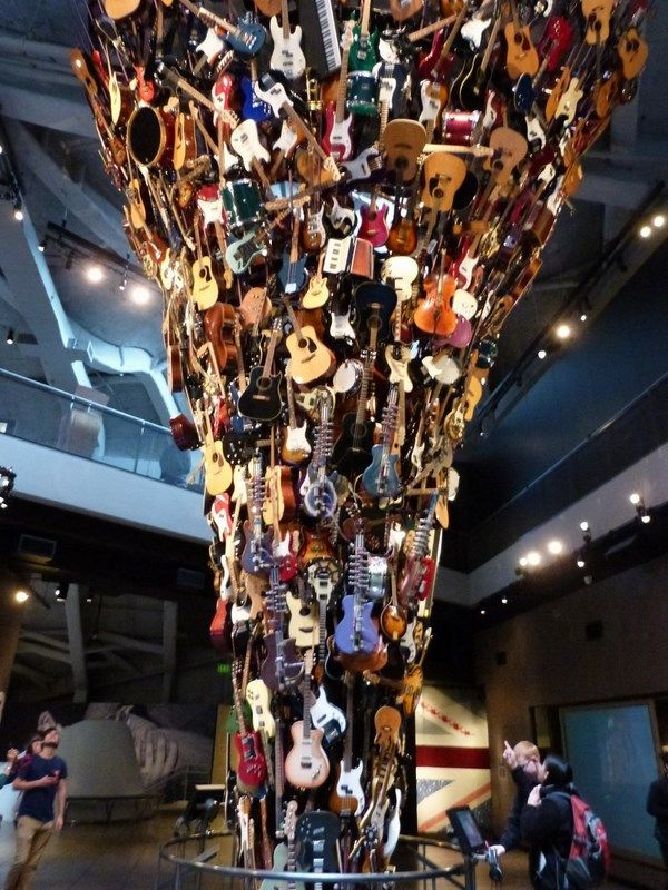Seattle Map Redmond%0A The Tower of Guitars at the Experience Music Project  AKA The Jimi Hendrix  Museum
