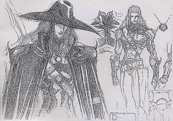 Line Drawings From D Models : Living lines library vampire hunter d bloodlust