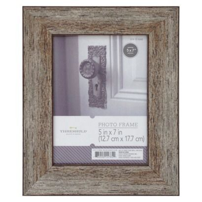 Threshold™ Frame - Distressed Wood 5X7 target- embroidered initials ...