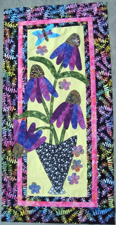 Coneflowers Are One Of My Favorites And The Vibrant Colors Of This Version Make Me Swoon Flower Quilts Quilts Applique Quilts