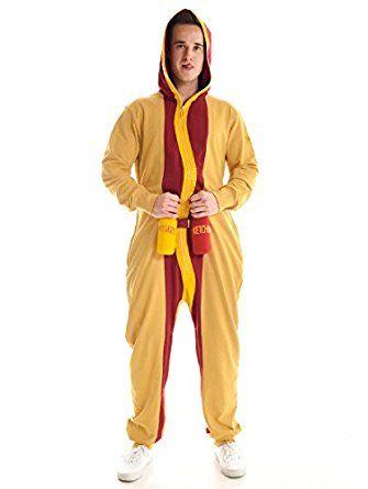Men\u0027s Hotdog Jumpsuit - Hot Dog Halloween Costume for - hot halloween ideas